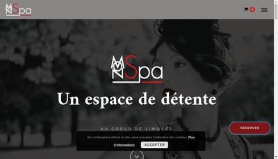 Site internet de Mon Spa