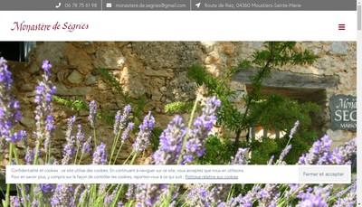 Site internet de Monastere de Segries