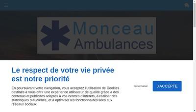Site internet de Monceau Ambulances