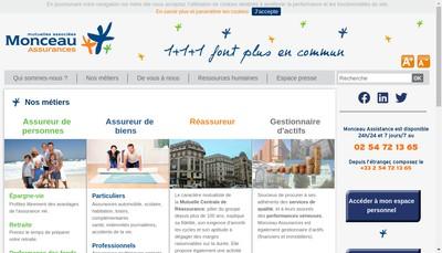Site internet de Monceau Assurances