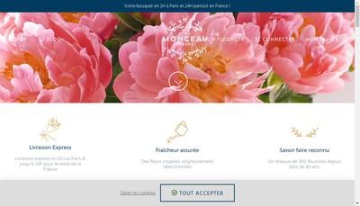 Site internet de Monceau Fleurs