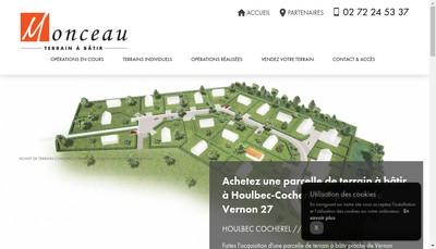 Site internet de Monceau Terrain a Batir