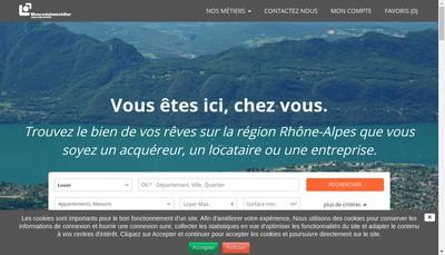 Site internet de Moncenis Immobilier