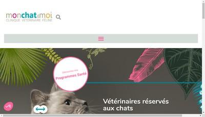 Site internet de Clinique Veterinaire Mon Chat et Moi