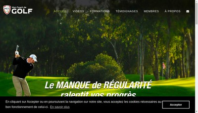 Site internet de Mon Coach de Golf
