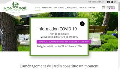Site internet de Moncorge Createur de Jardins