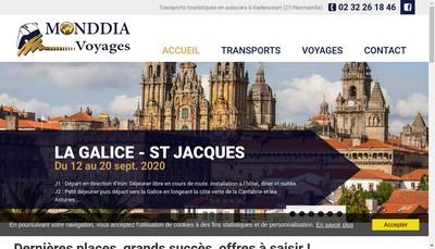 Site internet de Monddia Voyages