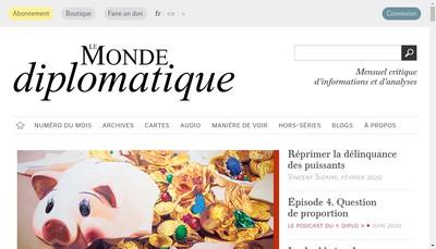 Site internet de Le Monde Diplomatique