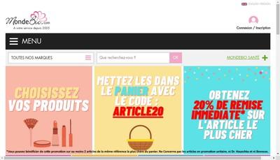 Site internet de Le Monde du Bio