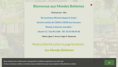 Site internet de Les Mondes Bohemes