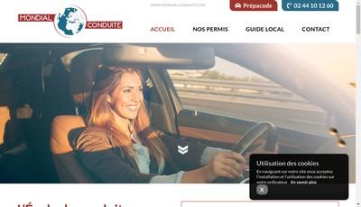 Site internet de Mondial Conduite