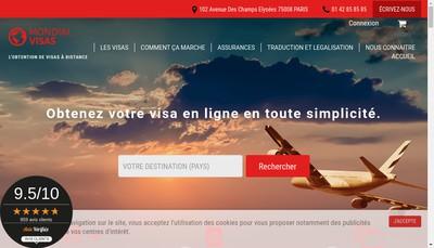 Site internet de Mondial Visas