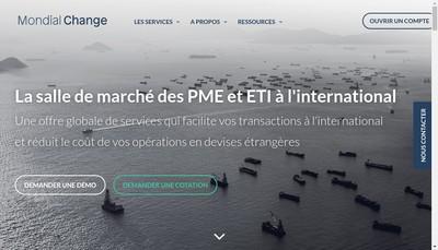 Site internet de Mondial Change