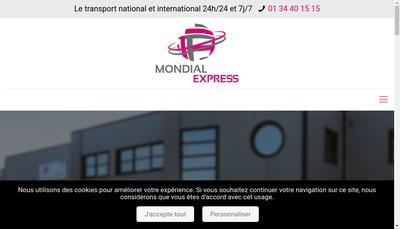 Site internet de Mondial Express