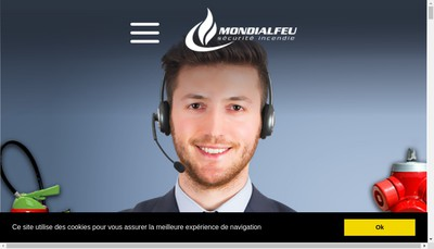 Site internet de SARL Mondialfeu