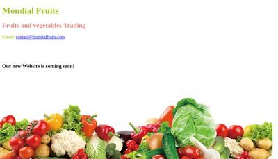 Site internet de Mondial Fruits
