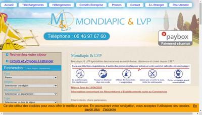 Site internet de Mondiapic Diffusion SARL