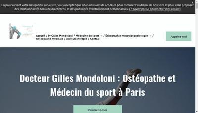Site internet de Gilles Mondoloni
