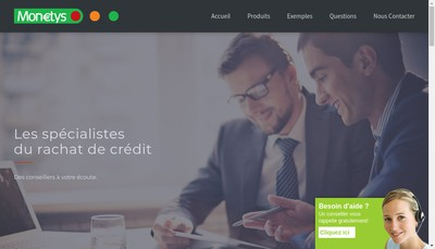 Site internet de Monetys