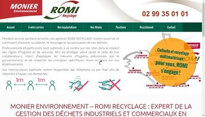 Site internet de Romi Bretagne