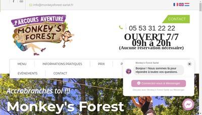 Site internet de Monkey'S Forest