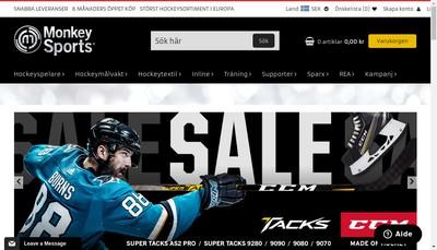 Site internet de Monkeysports Sweden Ab