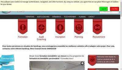 Site internet de Monneret Formation Conseil