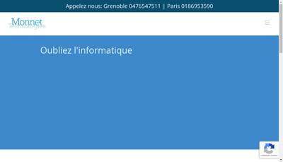 Site internet de Monnet Technologies