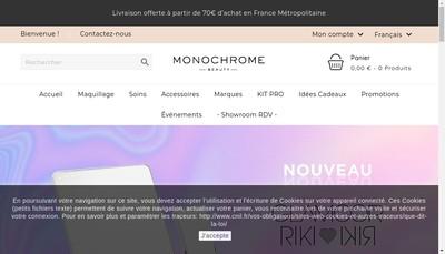 Site internet de Monochrome
