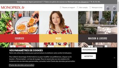 Site internet de Monoprix