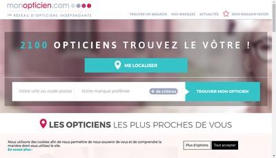 Site internet de Optique du Champs de Mars