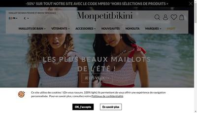 Site internet de Mon Petit Bikini
