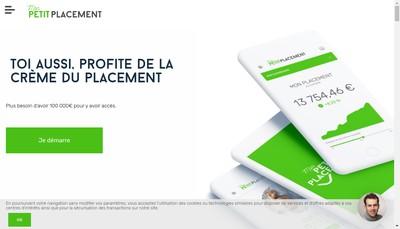 Site internet de Mon Petit Placement