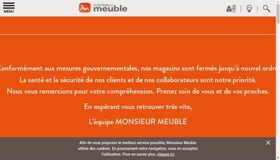 Site internet de Monsieur Meuble
