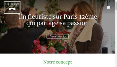 Site internet de Monsieur le Fleuriste