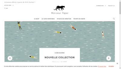 Site internet de Monsieur Papier