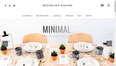 Site internet de Monsieur Plus Madame