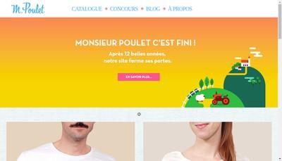 Site internet de Monsieur Poulet