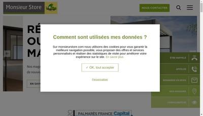 Site internet de Monsieur Store
