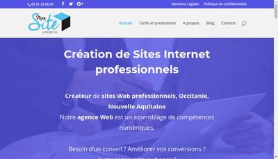 Site internet de Monsite-entreprise