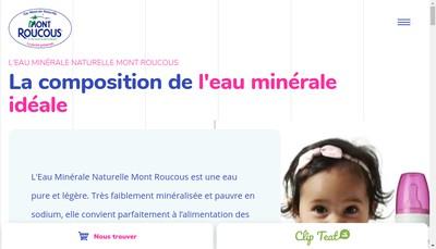 Site internet de Societe des Eaux de Mont Roucous