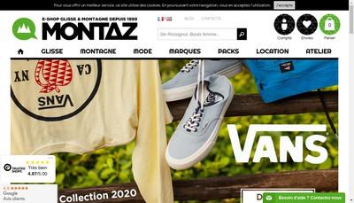 Site internet de Montaz Distribution