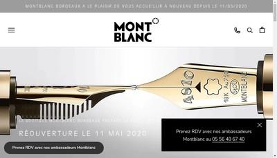 Site internet de Boutique Mont Blanc