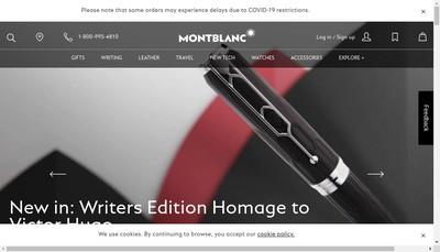 Site internet de Montblanc France