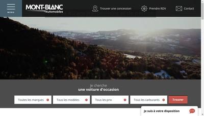 Site internet de Mont Blanc Automobiles Sud