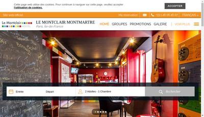 Site internet de Le Montclair Hostel Montmartre