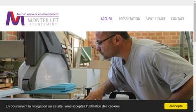Site internet de Monteillet Agencement