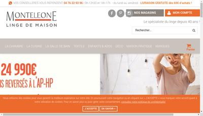 Site internet de Groupe Monteleone