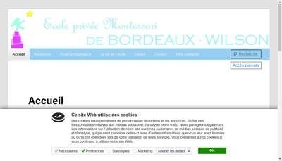 Site internet de Epm Bordeaux Wilson