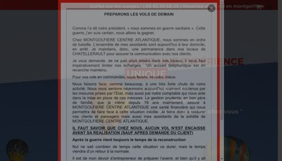 Site internet de Montgolfiere Centre Atlantique